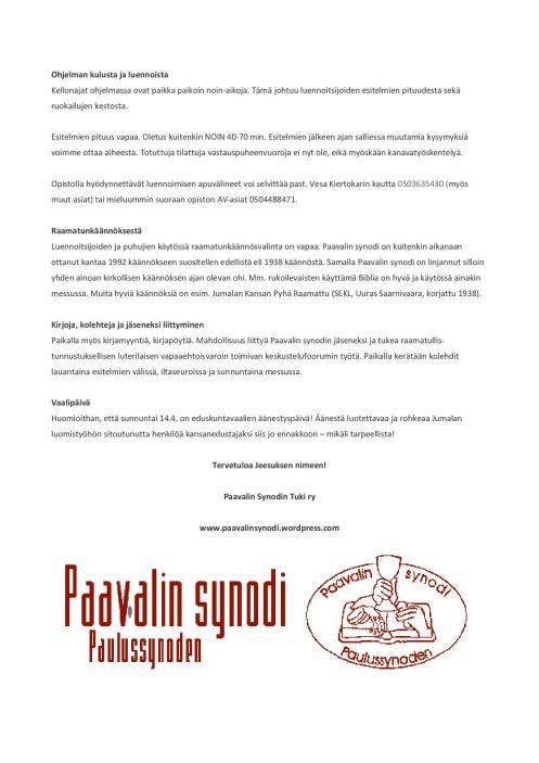 Paavalin synodin paastonajan kirkkopäivät 2019 ohjelmalehtinen-page-004